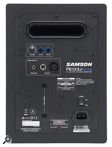 On the rear, Samsons have provided a range of different input connector types.