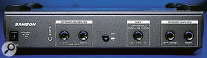 The C*Com 16's switchable +4dBu/-10dBV balanced jacks are accompanied by a sidechain insert point.