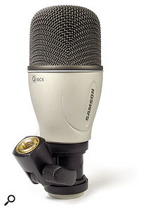 The kick mic has a larger body, but the capsule inside is of similar dimensions to those in the other dynamic mics in the Q7 set.