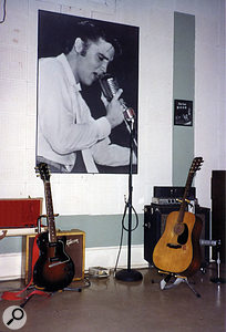 The microphone that Elvis used during his legendary Sun sessions is still on display in the main recording area.