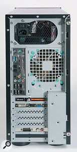 One of the PCI slots in the review machine is taken up by a dummy backplate which has a speed control for the CPU fan.