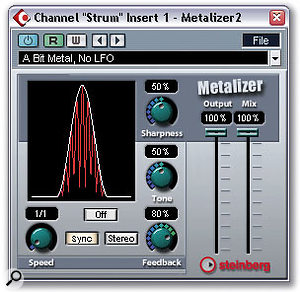 The Metalizer and Autopole plug-ins in Steinberg Cubase SX offer a variety of traditional filtering effects, but also provide a lot of scope for experimentation.