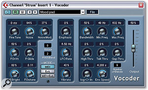 The Vocoder and Stepfilter plug-ins allow some of the more interesting filter-based effects in Cubase SX.