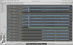 A little touch of corrective work was required in post production, with level automation being the main tool used.