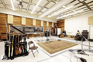 The Studio A live room has remained unchanged for decades, and is famed for its drum sounds.