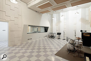 Studio B boasts a  control room, a  45-square-metre tracking space and a  15-square-metre booth.