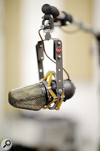 The Fairfax equipment list is short on outboard and long on instruments and microphones, such as this rare RCA KU3A unidirectional ribbon mic.