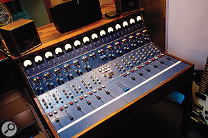 The 'badass machine' valve console that acts as a  sidecar to Studio 2's SSL Duality.