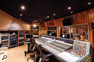 Studio A's control room, based around a  Neve VR60 desk, is also unusually spacious.