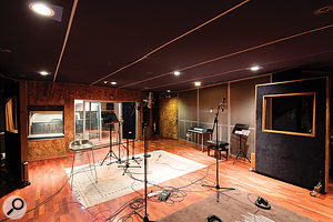 Though not on the same epic scale as Studio A's, Studio B's live room is still generously sized.