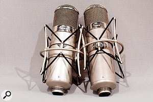 The studios' mic collection includes this pair of Neumann U47s.