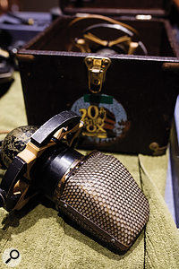 Among the highlights of the mic collection are a  pair of RCA KU3A ribbon mics.
