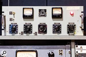The studio's ultra-rare Discographe Magnétographe LD preamp.