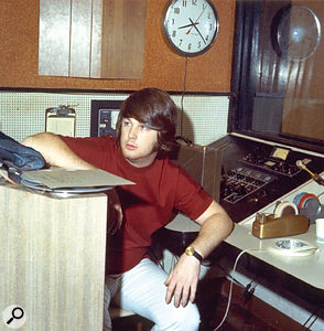 Brian at Western Recorders, LA, during the '60s SMiLE Sessions.