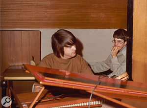 Brian Wilson and Van Dyke Parks (right) working on SMiLE, 1966.