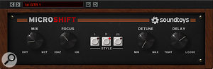 Soundtoys' Microshift was used to add some extra width to the vocal effects.