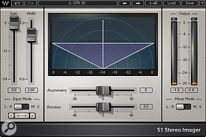 Waves' 'S1 imager' was used to add a  sense of '3D' to the guitars.