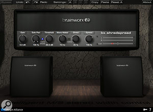 The Brainworx bx_shredspread plug-in helped push the guitars are out even wider on some songs.