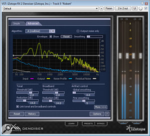 Maximising the signal-to-noise ratio on the final recordings involved taking advantage of specialist processing from restoration specialists iZotope, in the form of their RX2 plug-in.