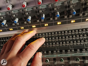 The routing matrix on the Audient ASP8024 console allowed me to juggle which inputs went into Pro Tools; while Icould have 24 channels patched into the desk, Icould have only 16 simultaneous recording channels.