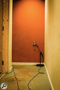 Additional ambient mics were placed in the corridor outside the live rooms for the overdub stages.