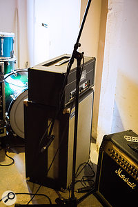 A rotating Leslie Speaker cabinet was placed in the studio corridor and used to create 'shimmering' tremolo-style effects on guitars, keyboards and acoustic piano.