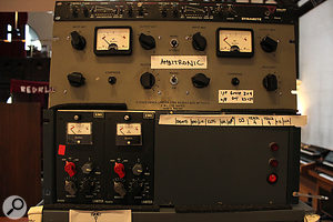 A couple of The Church's vintage EMI toys that were used on the drum room mics: a  pair of EMI TG12413 Limiters for the Coles ribbons that provided the main room sound, and a  Zener Limiter for the ambient B&K omni mics.