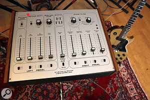 The unique-sounding distortion on the lead guitar part was the result of some quick experimentation with this Digitana recreation of a  rare EMI Synthi HiFli effect — something that helped inspire the performance of a  part that had initially seemed problematic.