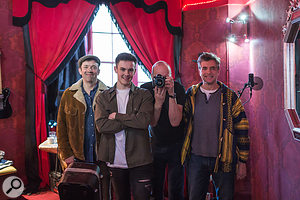 The songwriting/production team for 'The Long Sleep', from left to right: Will Cox, Billy Crabtree, Ian Wallman, Nigel Watson.