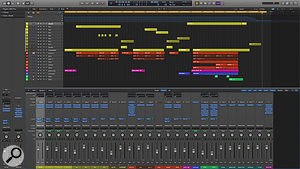 The final Logic Pro mix/master session for 'The Long Sleep'.