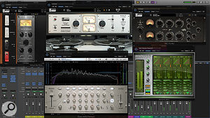 The mastering chain, described in the main text, involved subtle distortion from a  number of analogue-modelling plug-ins, as well as some gentle EQ and a  multiband limiter.