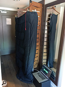 In Austin, we also used the sleeping-bag solution for a spacious closet with carpetless floors.