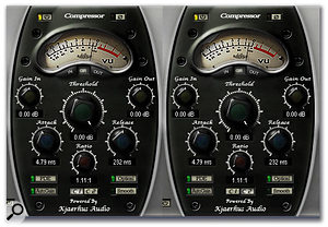 Two compressors set in series, with very light amounts of compression, can provide a useful lift to a signal without making it sound compressed.