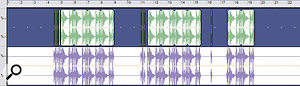 Figure 2:  Backing up by bouncing all tracks to a single clip.