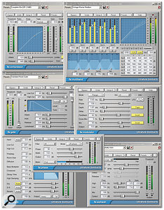 This collage includes seven of the 10 effects bundled with Sonar Producer (Surround, Delay and EQ are not shown). I find the multi-band compressor particularly effective, but the others are also refined and useful.