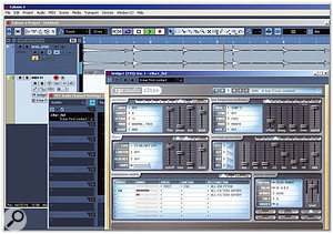 Z3ta+ inserted in Cubase 4, which can process audio through the filters and VCA, as well as the effects section. In Cubase, an accompanying MIDI track allows triggering of the z3ta+ envelope generators.