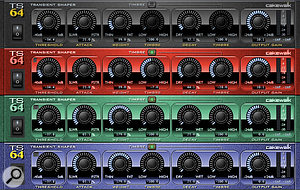 Like many aspects of Sonar, TS64's front panel can be customised.