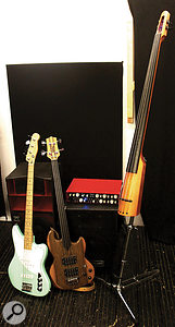 The three basses used with the Tantra during the review tests.