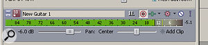 Input metering is now integrated into the audio tracks.