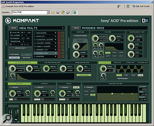 The custom version of NI's Kompakt, with its 2GB sample library, is a nice addition to Acid.