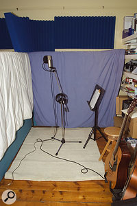 Bella's vocal recording area, complete with Paul and Hugh's improvements.