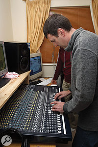 Once the monitoring system was in order, Paul set about tweaking Li's mix to get the sampled instruments sitting alongside the recorded ones.