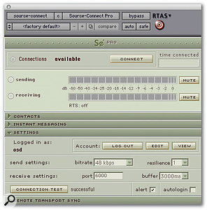 The Settings window allows you to fine-tune the plug-in to work with your particular Internet connection.