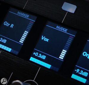 SSL UF8 DAW Controller's OLED displays