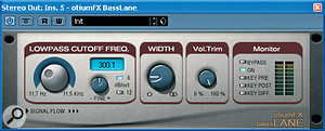 Otium FX's BassLane freeware PC VST plug‑in allows you to narrow the stereo width of the frequencies below a defined threshold, in order to distribute LF energy more evenly between speakers.