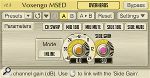 Plug‑ins such as Voxengo's freeware MSED perform the M/S matrix processing for you, but as you can see from the diagram, it's also relatively easy to set up the conversion process using aDAW or adesk.
