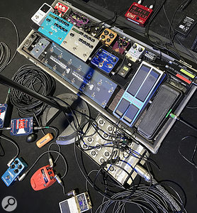 Steven Wilson's guitar effects (with opening act Bruce Soord's pedals in front).