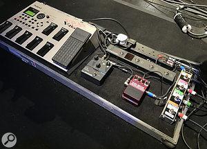 Dave Kilminster's pedalboard.