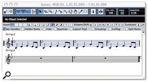 If you find notation a daunting prospect, don't worry: you can simply record or program parts as usual and use your sequencer's score editor to communicate the basics to a string player. If you also give the player a paper stave and a pencil, you'll probably find that they're happy to write the part out more fully for themselves.