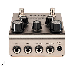 The Deco offers stereo outputs and caters for an expression pedal.